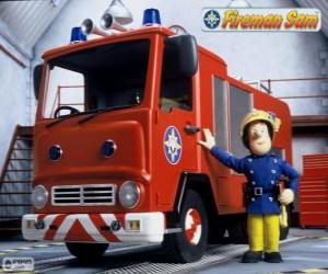 Rompicapo di Sam accanto a Jupiter il camion dei vigili dil fuoco