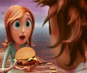 Rompicapo di Sam Flint sorpreso insegna un hamburger