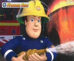 Rompicapo di Sam i pompiere con il tubo
