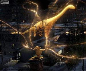 Rompicapo di Sandman, il guardiano dei sogni, il personaggio muto da film Le 5 leggende
