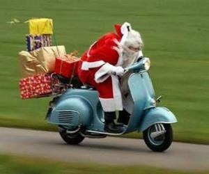 Rompicapo di Santa su scooter