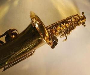 Rompicapo di Sax o sassofono, strumento musicale del vento