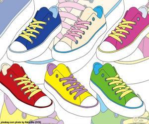 Rompicapo di Scarpe da ginnastica di colori