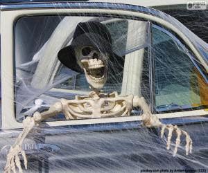Rompicapo di Scheletro in auto, Halloween