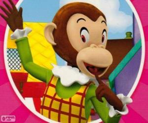 Rompicapo di Scimmiottina, la scimmia fa scherzi alla altri giocattoli