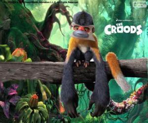 Rompicapo di Scimpandestro, scimmie divertenti che sono pericolosi per loro pugni quando si sentono minacciati
