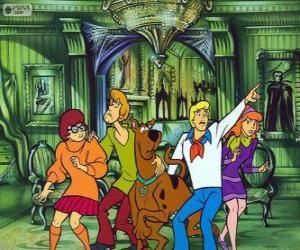 Rompicapo di Scooby Doo e la sua banda di amici hanno paura