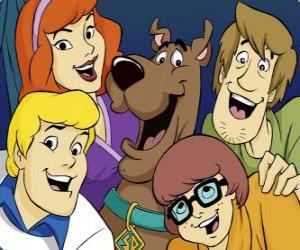 Rompicapo di Scooby Doo e tutta la banda: Shaggy, Velma, Fred e Daphne