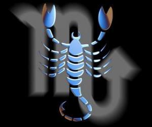 Rompicapo di Scorpione. Lo scorpione. Ottavo segno dello zodiaco. Nome latino è Scorpius