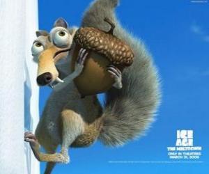 Rompicapo di Scrat, lo scoiattolo la sciabola dente ossessionato con ghiande