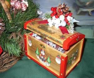 Rompicapo di Scrigno decorato con temi natalizi