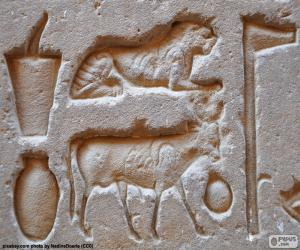 Rompicapo di Sculture hieroglyphic