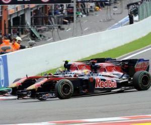Rompicapo di Sebastien Buemi, Jaime Alguersuari - Toro Rosso - Spa-Francorchamps 2010