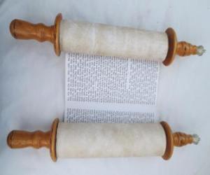 Rompicapo di Sefer Torah, un rotolo di Torah