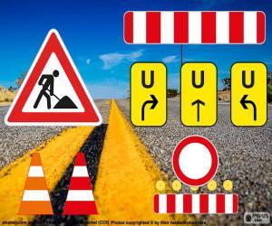 Rompicapo di Segni di lavori stradali