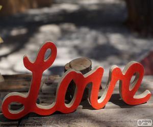 Rompicapo di Segno di legno, Love