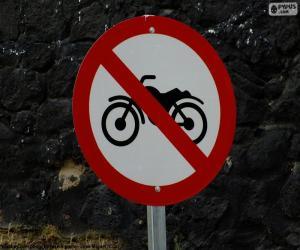 Rompicapo di Segno proibito motocicletta