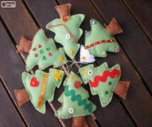 Rompicapo di Sei piccoli alberi di Natale