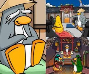 Rompicapo di Sensei è un essere vivente pinguino molto saggia nel Dojo e insegna loro ad essere pinguini ninja