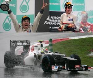 Rompicapo di Sergio Perez - Sauber - Gran Premio della Malesia (2012) (2 ° posizione)