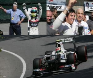 Rompicapo di Sergio Perez - Sauber - Gran Premio del Canada (2012) (3 °)