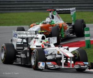 Rompicapo di Sergio Perez - Sauber - Sepang 2011