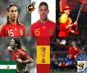 Rompicapo di Sergio Ramos (i letti indiano) difesa team spagnolo