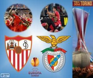 Rompicapo di Sevilla vs Benfica. Europa League 2013-2014 finale nello Juventus Stadium, Torino, Italia