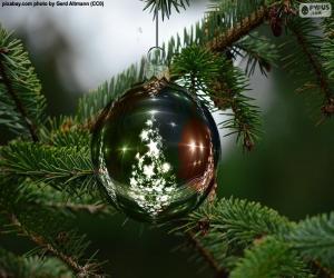 Rompicapo di Sfera dell'albero di Natale