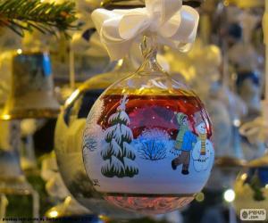 Rompicapo di Sfera Natale di vetro