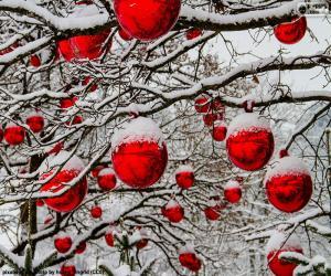 Rompicapo di Sfere rosse di Natale