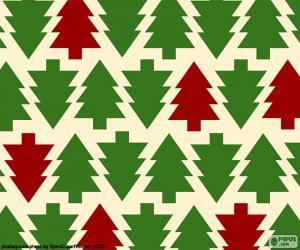 Rompicapo di Sfondo di alberi di Natale