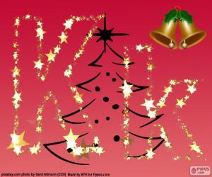 Rompicapo di Sfondo di Natale, lettera K