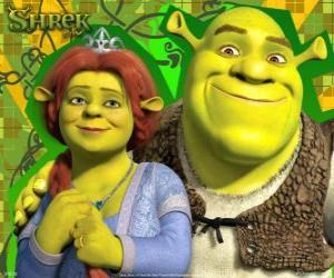 Rompicapo di Shrek e Fiona in amore e molto felici