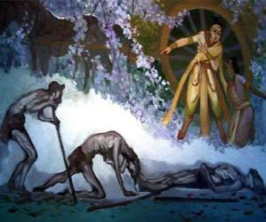 Rompicapo di Siddharta Gautama e la sua prima visione della vecchiaia