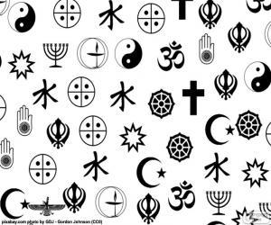 Rompicapo di Simboli di religioni