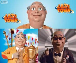 Rompicapo di Sindaco Milford Meanswell. Meanswell Milford è il sindaco di Lazy Town