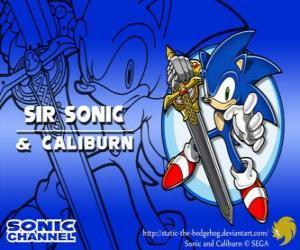Rompicapo di Sir Sonic, Sonic con la spada di un cavaliere
