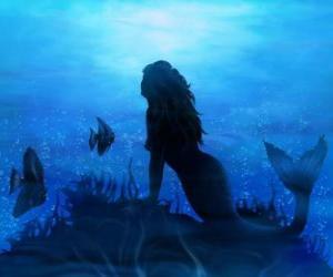 Rompicapo di Sirena sul fondo del mare