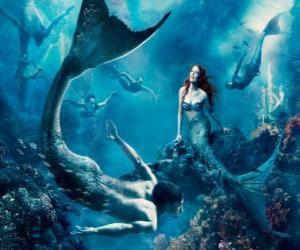 Rompicapo di Sirenas sul fondo del mare