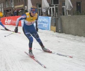 Rompicapo di Skier di sci di fondo