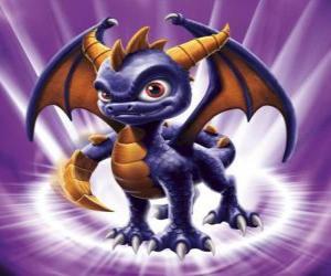 Rompicapo di Skylander Spyro, il drago è un avversario temibile che può volare e sparare fuoco dalla bocca. Skylanders Magia