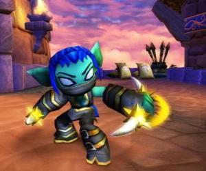 Rompicapo di Skylander Stealth Elf, il guerriero ninja. Skylanders Vita