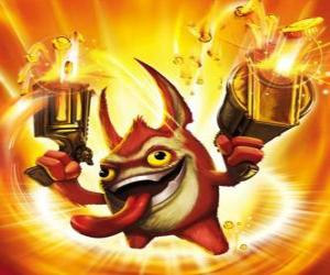 Rompicapo di Skylander Trigger Happy, il re del grilletto. Tech Skylanders