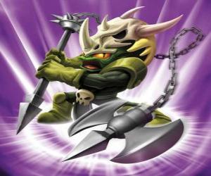 Rompicapo di Skylander Voodood, guerriero coraggioso. Skylanders Magia