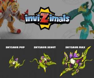 Rompicapo di Skysaur in tre fasi Skysaur Pup, Skysaur Scott e Skysaur Max, Invizimals