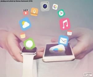 Rompicapo di SmartWatch e smartphone
