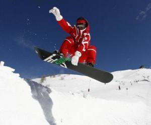 Rompicapo di Snowboarder fare un trucco o un gioco