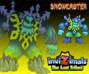 Rompicapo di Snowcaster. Invizimals Le Tribù Scomparse. Il Signore supremo dil ghiaccio, un saggio mistico e potente che vive nei ghiacciai