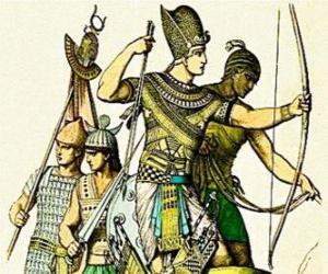Rompicapo di Soldato egiziano con un arco